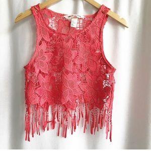 🌷3 FOR $25 SALE🌷H&M Coachella  Crochet Crop Top